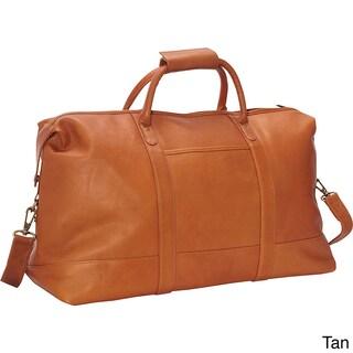 LeDonne Leather Vaqueta 24-inch Classic Duffel Bag (Option: Beige)