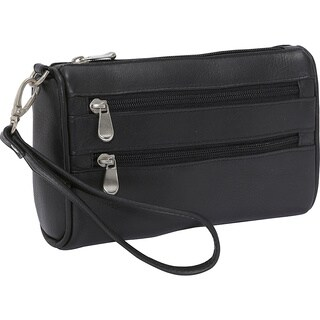 LeDonne Leather Two Zip Wristlet Clutch