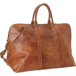 LeDonne Leather Distressed Leather Getaway 25-inch Duffel Bag