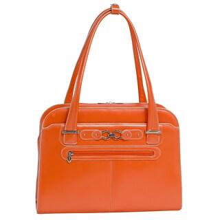 McKlein Oak Grove 15.6-inch Laptop Shoulder Tote Bag (Option: Orange)