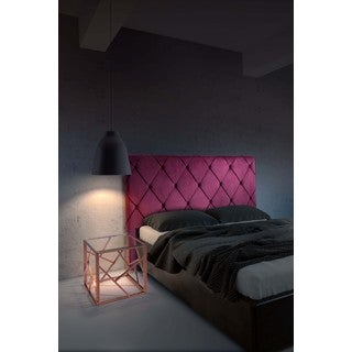 Matias Velvet Tufted Queen Size Headboard