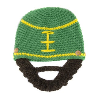Crummy Bunny Medium Green Football Beanie