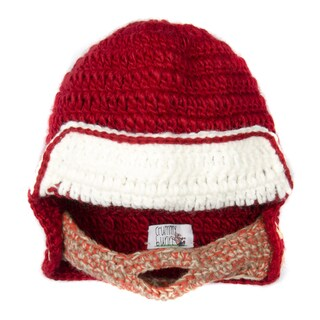 Crummy Bunny Medium Red and White Beanie