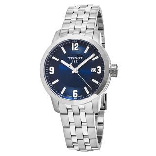 Tissot Men's T055.410.11.047.00 'PRC 200' Blue Dial Stainless Steel Swiss Quartz Watch