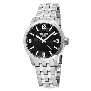 Tissot Men's T055.410.11.057.00 'PRC 200' Black Dial Stainless Steel Swiss Quartz Watch