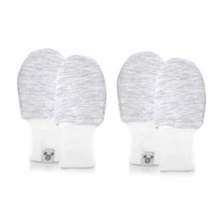 Crummy Bunny Super Soft Cotton Grey Baby Mittens (Pack of 2) (2 options available)
