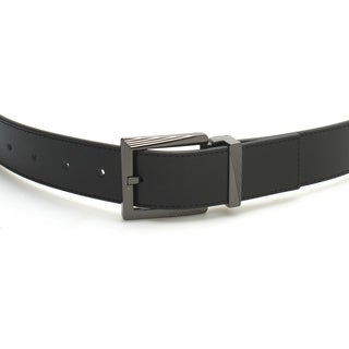 Versace Collection 175 Black Leather Adjustable Belt