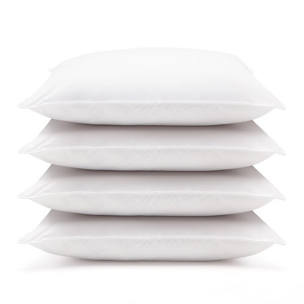 Hotel 230 Thread Count Cambric Cotton Jumbo Pillows (Set of 4)