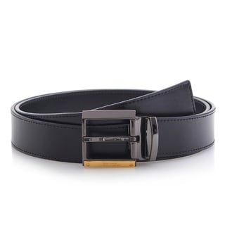 Versace Collection 202 Black Leather Adjustable Belt