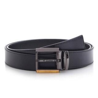 Versace Collection 202 Black Leather Adjustable Belt