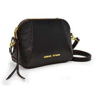 Adrienne Vittadini Ostrich Print Dome Top Zip Crossbody Handbag