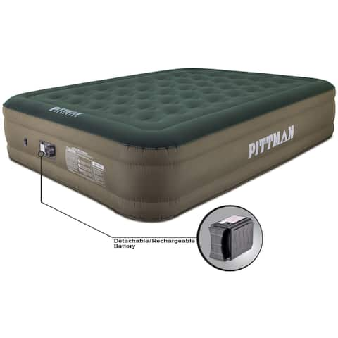 "Pittman 16"" Ultimate Fabric Air Mattress w/Built-in Pump - Green"