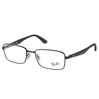 Ray-Ban RX 6333 2509 Shiny Black Metal Rectangle 54mm Eyeglasses