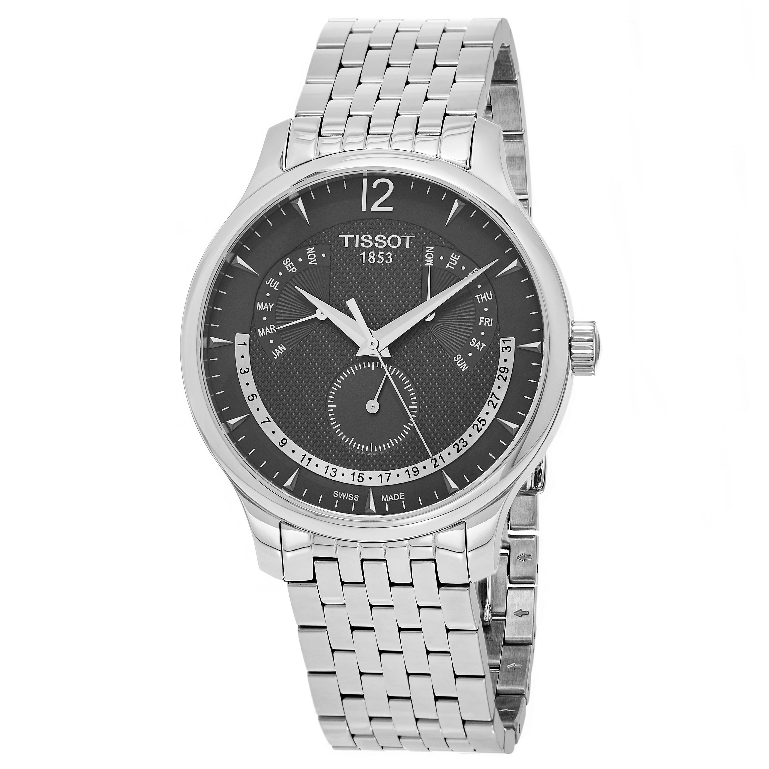 Tissot Men's T063.637.11.067.00 'Tradition' Grey Dial Sta...