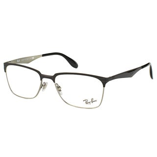 Ray-Ban RX 6344 2861 Black And Silver Metal Square 54mm Eyeglasses