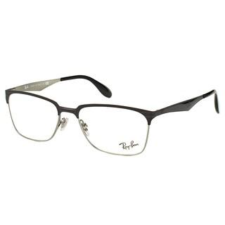 Ray-Ban RX 6344 2861 Black And Silver Metal Square 54mm Eyeglasses