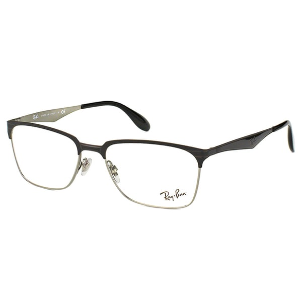 4a637b33684 Ray-Ban RX 6344 2861 Black And Silver Metal Square 54mm Eyeglasses