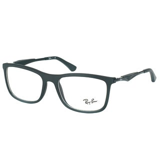 Ray-Ban RX 7029 2077 Matte Black Plastic Square 53mm Eyeglasses