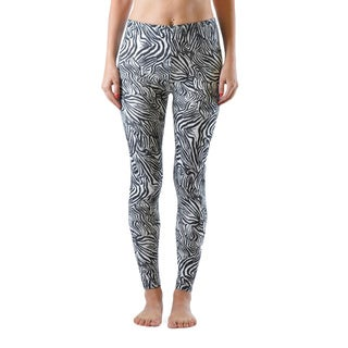 Juniors' Zebra Style Ankle Leggings