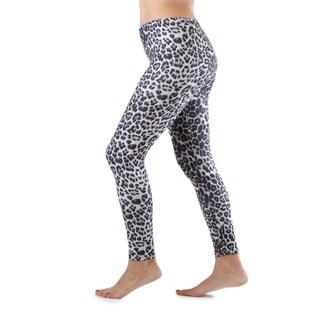 Juniors' Grey Leopard Ankle Length Leggings