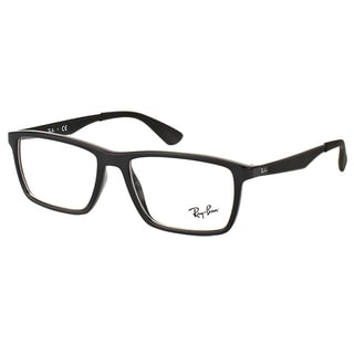 Ray-Ban RX 7056 2000 Shiny Black Plastic Rectangle 53mm Eyeglasses