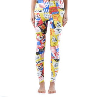 Juniors' Retro Comics Leggings