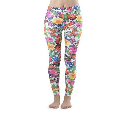 Vibrant Flowers Ankle Length Leggings