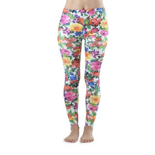 Vibrant Flowers Ankle Length Leggings