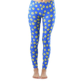 Yellow Flowery Spotted Ankle Length Leggings