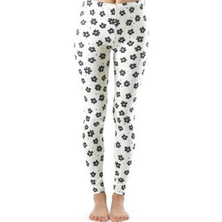 Black Flower Spotted Ankle Leggings