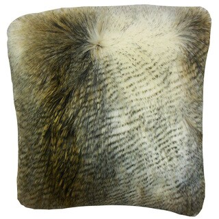 Valeska Faux Fur Grey Throw Pillow