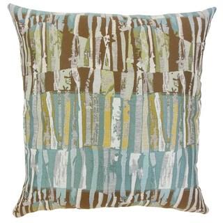 Prunella Stripes Grey/ White Throw Pillow