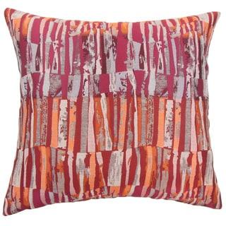 Prunella Stripes Brown Throw Pillow
