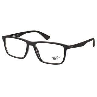 Ray-Ban RX 7056 2000 Shiny Black Plastic Rectangle 55mm Eyeglasses