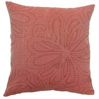 Pomona Floral Beige Throw Pillow
