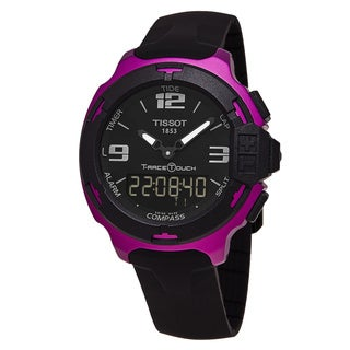 Tissot Men's T081.420.97.057.05 'T-Race Touch' Black Dial Black Rubber Strap Purple Aluminium Swiss Quartz Watch