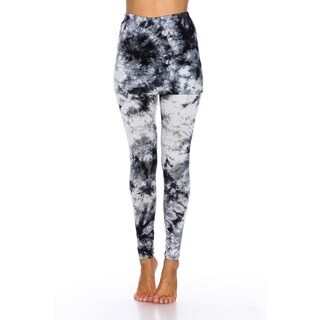 White Mark Women's Multi Tie Dye Skirted Leggings