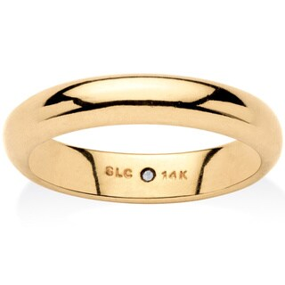 14k Gold Nano Diamond Resin Filled Wedding Band Tailored
