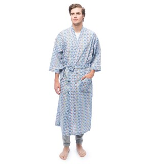 Men's Screen Play Print Kimono Robe