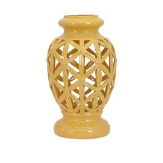 Sunshine Yellow Clarey Large Cutout Vase
