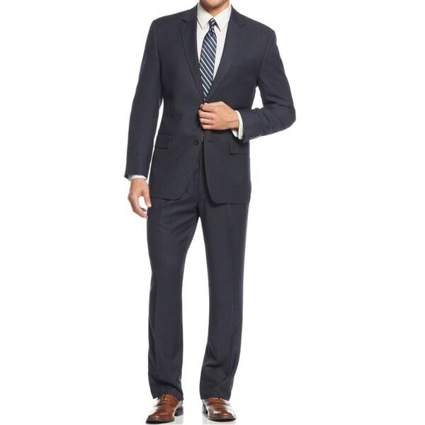 IZOD Men's Two-Piece Navy Regular Fit Suit