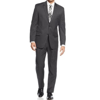 IZOD Men's Two-Piece Charcoal Regular Fit Suit