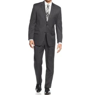 IZOD Men's Two-Piece Charcoal Regular Fit Suit