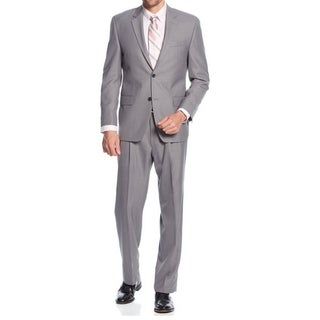 IZOD Men's Two-Piece Grey Regular Fit Suit