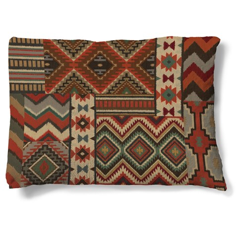 Laural Home Southwestern Pattern Fleece Dog Bed