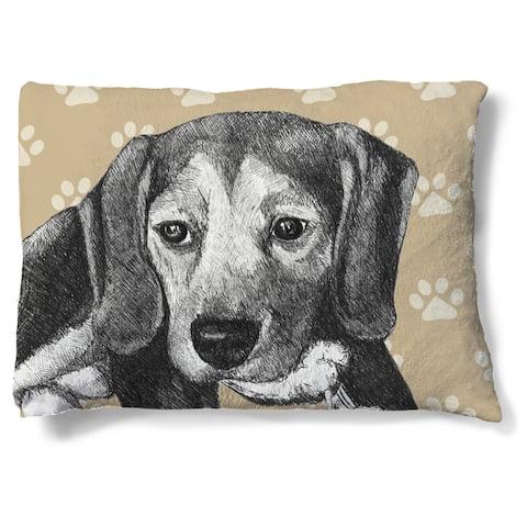 Laural Home Beagle Fleece Dog Bed