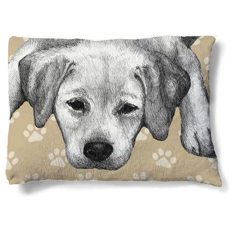 Laural Home Yellow Lab Fleece Dog Bed