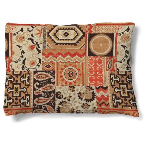 Laural Home Ornate Patchwork Fleece Dog Bed