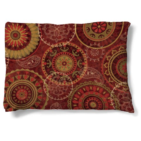 Laural Home Ruby Wheels Fleece Dog Bed