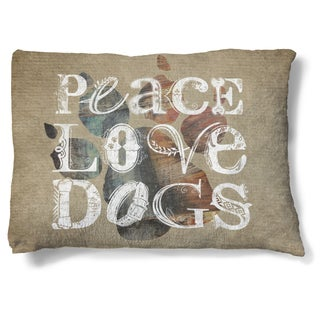 Laural Home Peace and Love Fleece Dog Bed